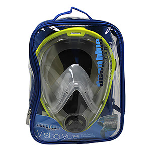 Vista Vue Full Face Mask with Zippered Bag and Backing Card