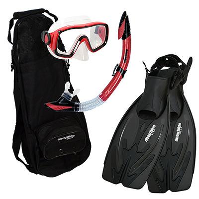 Best Value - Adult Snorkeling Set by Deep Blue Gear