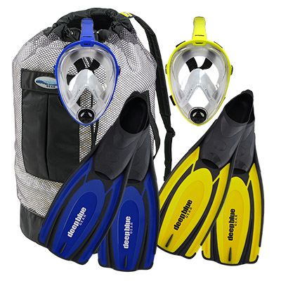 Buddy Full Face Mask Combo - Adult Snorkeling Set by Deep Blue Gear