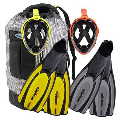 Limited Edition Buddy Full Face Rental Mask Combo - Adult Snorkeling Set by Deep Blue Gear