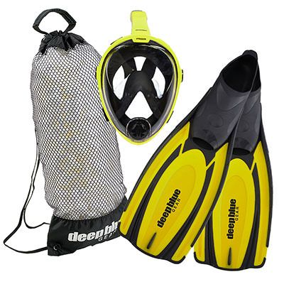 Limited Edition Full Face Rental Mask Combo - Adult Snorkeling Set by Deep Blue Gear