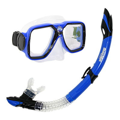 Maui Adult Mask and Snorkel Set by Deep Blue Gear