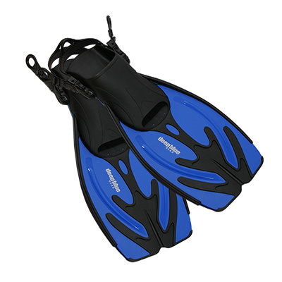 Current - Kids Adjustable Snorkeling Fins by Deep Blue Gear