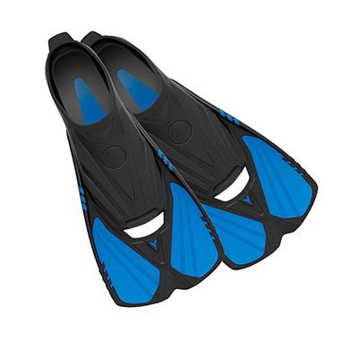 Aqualine - Short Snorkeling Swim Fins by Deep Blue Gear