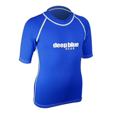 Kids Short Sleeve Rashguard by Deep Blue Gear