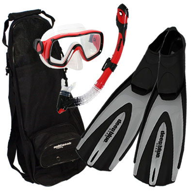 Black Friday Special - Adult Snorkeling Set by Deep Blue Gear