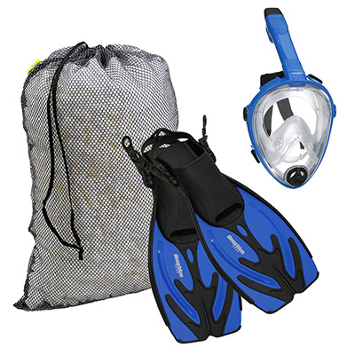 Kids Full Face Mask Combo - Kid's Snorkeling Set by Deep Blue Gear
