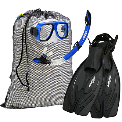 Travel Ready - Adult Snorkeling Set by Deep Blue Gear